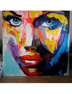 Tytuł: Portret kobiety, duży obraz do salonu, Autor: Emilia Czupryńska