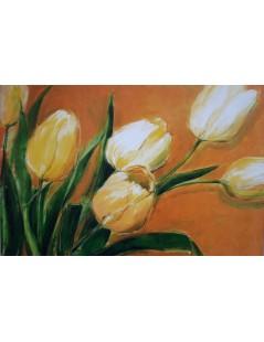 Tytuł: duży obraz olejny, kwiaty tulipany do salonu, Autor: Emilia Czupryńska