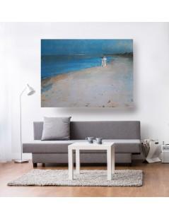 Tytuł: Pejzaż nadmorski turkusowy duży obraz, spacer na plaży, Autor: Peter Severen Kroyer