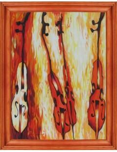 Tytuł: Abstrakcja muzyczna - Wiolonczele, Autor: Emilia Czupryńska